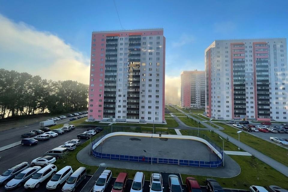 Новосибирск накрыл красивый туман.