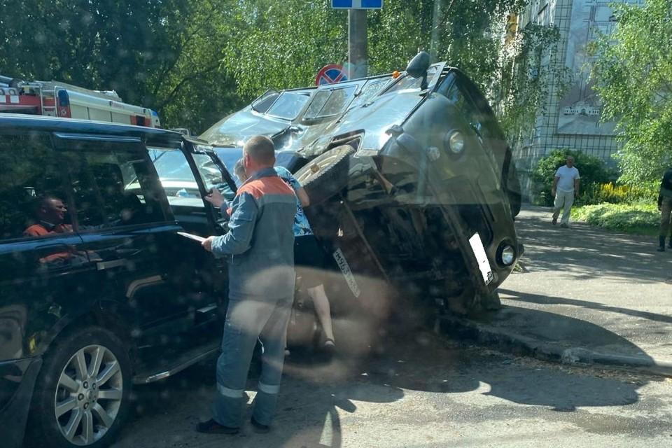 От удара УАЗ перевернулся. Фото: vk.com/ky43_ubezhishe