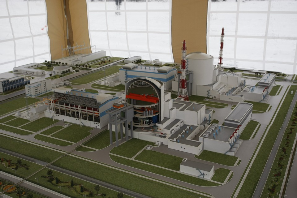 Макет Балтийской АЭС.
