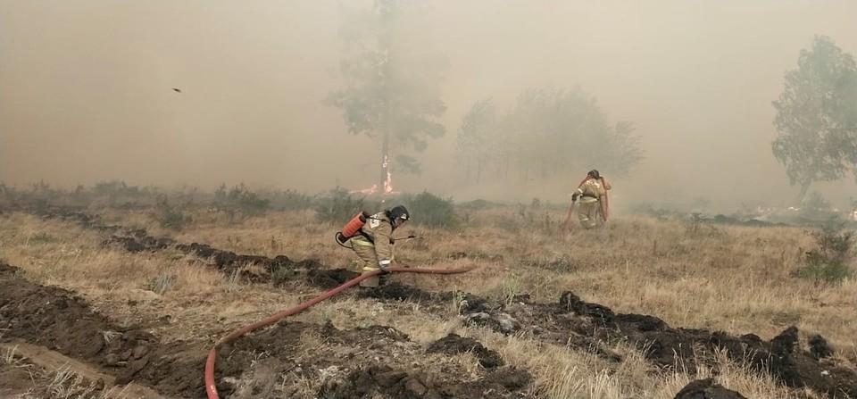 Посещать зоны пожаров небезопасно, предупреждают водителей. Фото: ГУ МЧС по Челябинской области