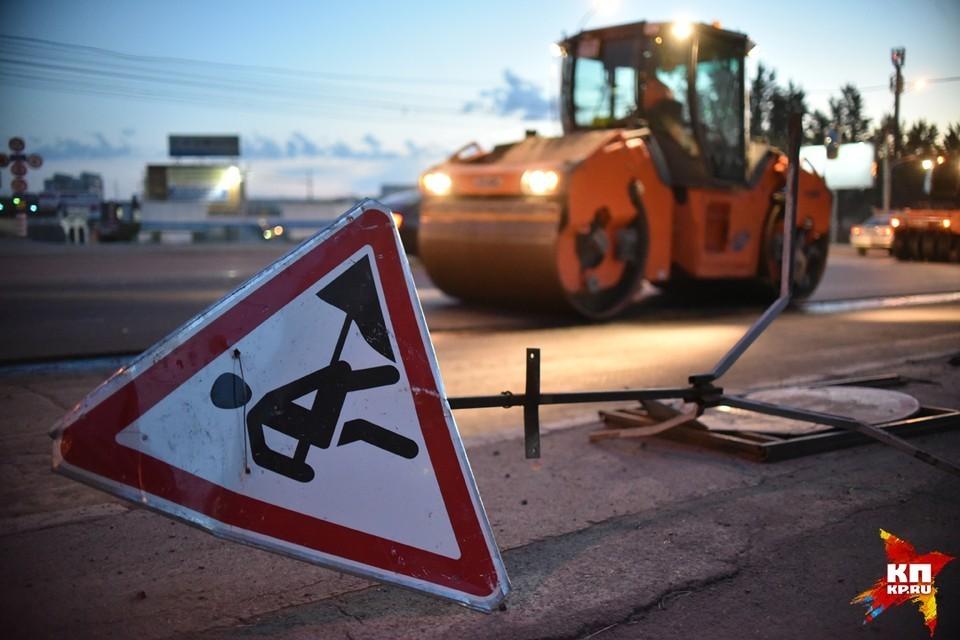 В Красноярске коммунальщики перекрыли проезд на Фестивальной возле КрасТЭЦ