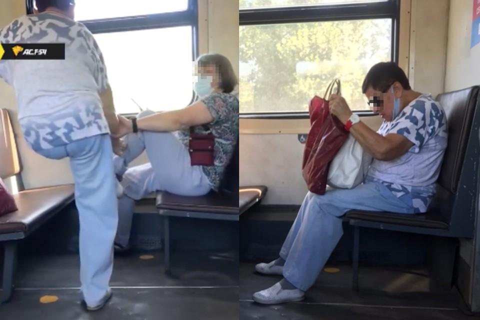 Женщина пинками освободила место у окна