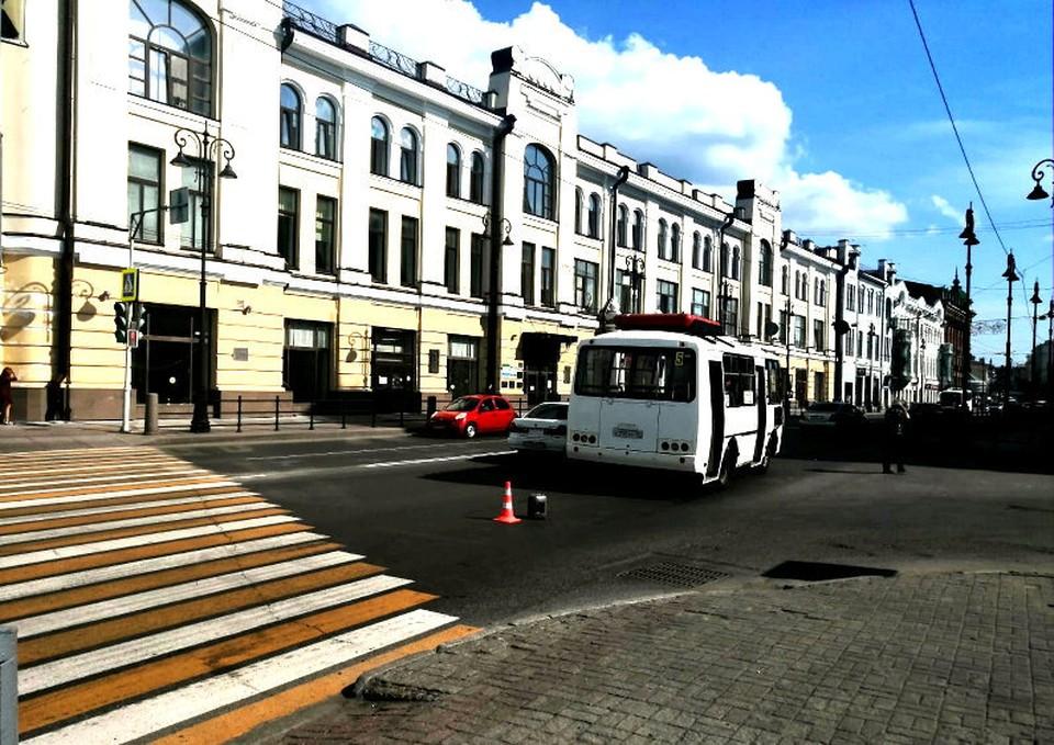 Сегодня маршрутка в Томске сбила мужчину-пешехода. Фото: сайт УМВД России по Томской области