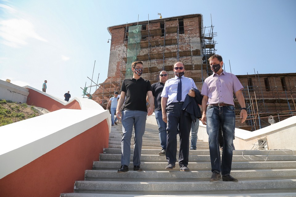 Чкаловская лестница в Нижнем Новгороде откроется после реконструкции 1 августа