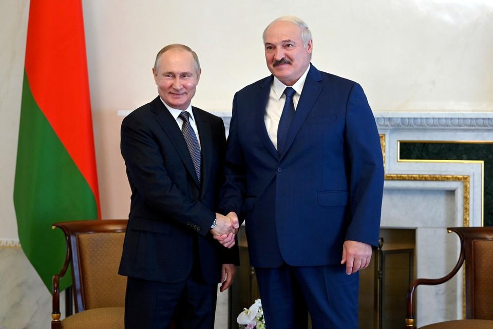 Владимир Путин и Александр Лукашенко во время встречи. Фото: Алексей Никольский/пресс-служба президента РФ/ТАСС