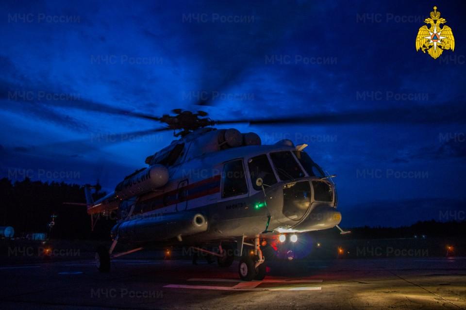 Вертолет санавиации вылетал в Кимры Фото: ГУ МЧС России по Тверской области