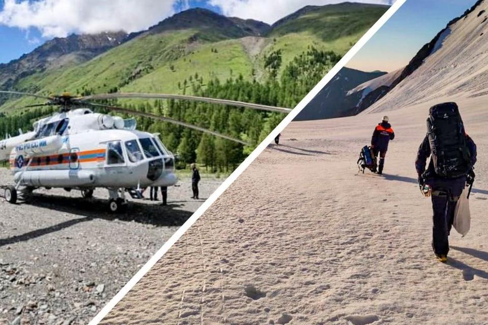 Тело альпиниста достали с ущелья, куда он сорвался. Фото: ГУ МЧС по республике Алтай