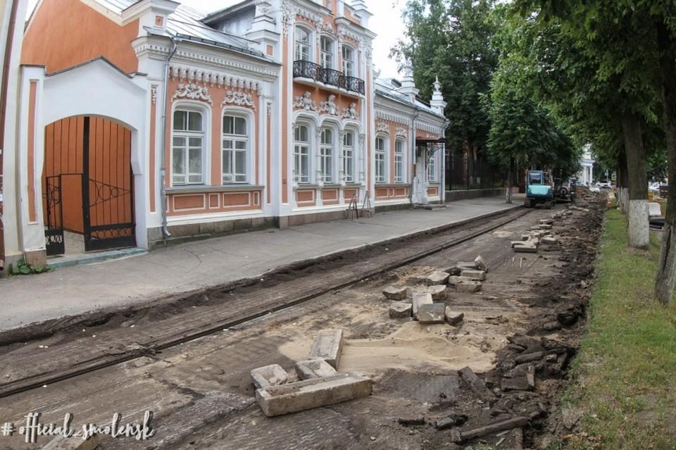 На улице Маяковского в Смоленске появится велодорожка и парковка. Фото: администрация Смоленска.