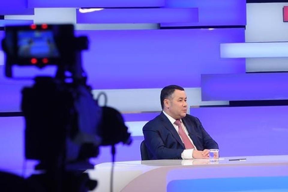 Губернатор вновь примет участие в прямом эфире на телеканале. Фото: ПТО