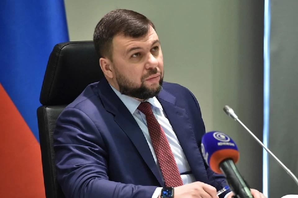 Глава Донецкой Народной Республики Денис Пушилин. Фото: сайт Главы ДНР