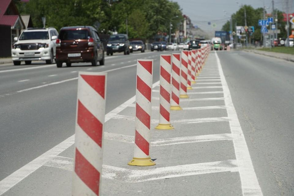 Столбики безопасности могут появиться на улице Пограничной, на ул. Чехова, а также на одном из участков улицы Крайней