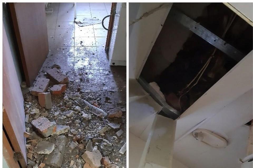 """31 мая в общежитие рухнул потолок. Фото: группа ВКонтакте """"Жесть Ярославль"""""""