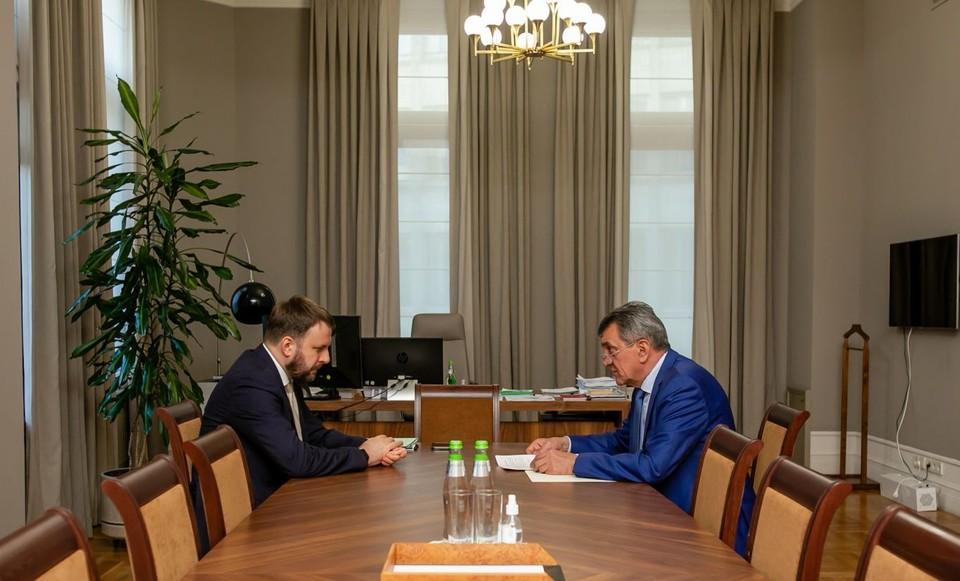 На встрече в Москве. Фото: сайт главы РСО - Алания.