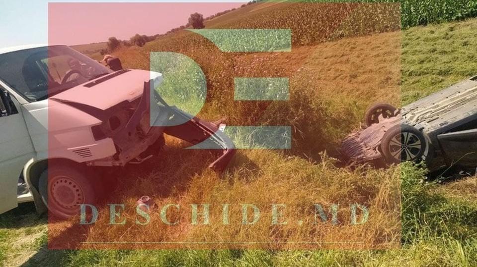 В аварии пострадал один из пассажмров (Фото: deschide.md).