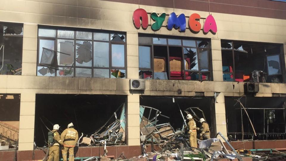 При взрыве и пожаре никто не пострадал. Фото предоставлено пресс-службой МЧС