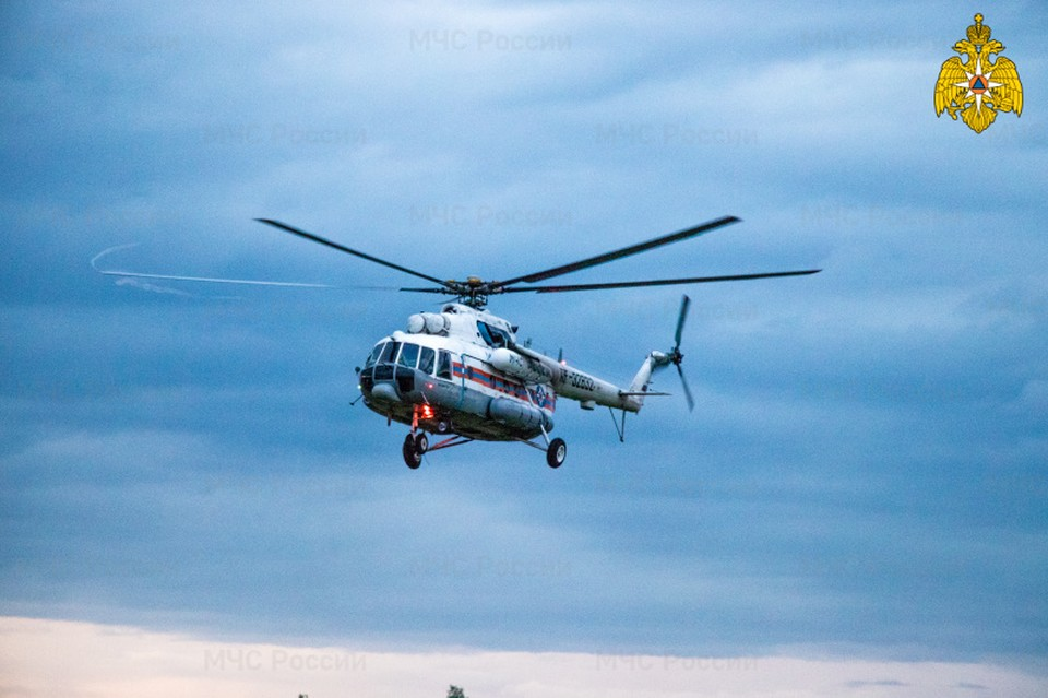 Вертолет санавиации вылетал в Молоковский район Фото: ГУ МЧС России по Тверской области