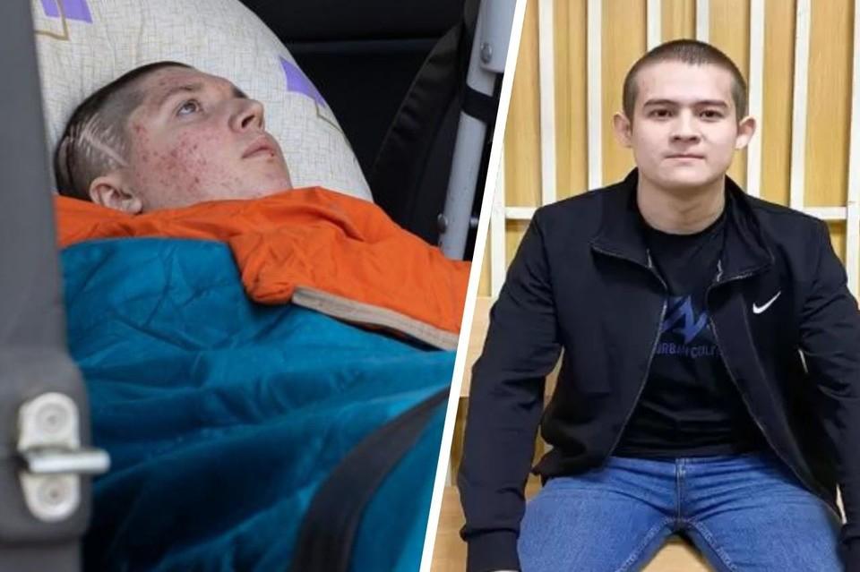 Евгений Графов (слева) и Рамиль Шамсутдинов выстреливший в него, оба были призваны из Тюменской области. Фото: Фонд святой Екатерины/адвокат Руслан Нагиев