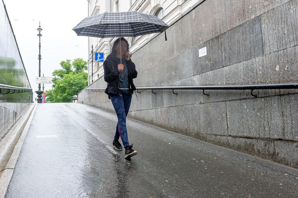 22 июля Петербург ждут дожди и грозы