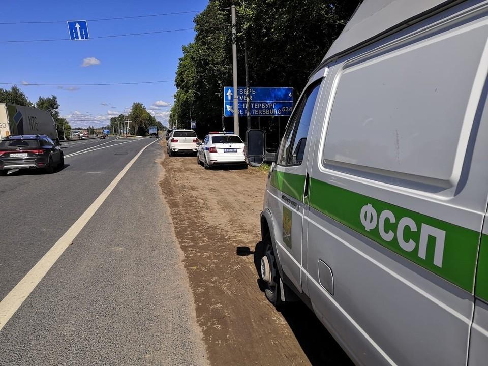 Иномарку забрали у водителя за долги Фото: УГИБДД России по Тверской области