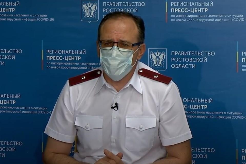 Евгений Ковалев назвал ситуацию с коронавирусом в регионе контролируемой. Фото: правительство Ростовской области.