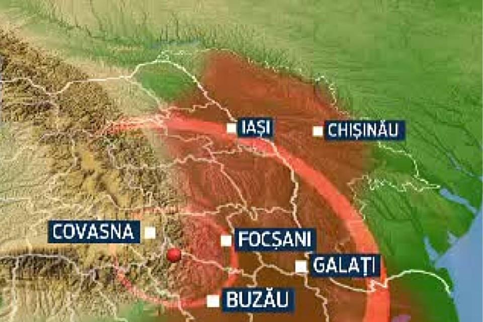Зона ощутимости подземных толчков включает и Республику Молдова.