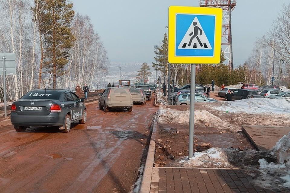 Дорогу на Николаевскую сопку в Красноярске откроют 15 сентября