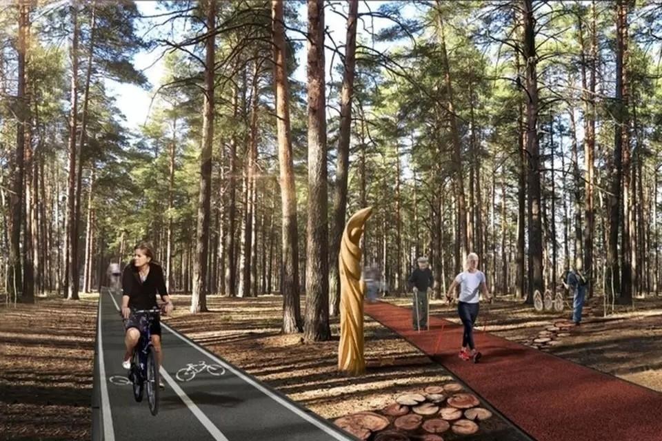 Планируется, что так парк будет выглядеть после реконструкции. Фото: Мэрия Новосибирска