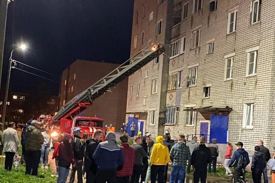 """Дом №5, в котором произошел взрыв. Фото: """"Читатель КП-Ярославль"""""""