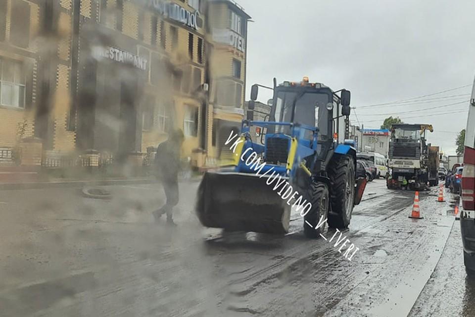 В Твери начался ремонт улицы Коминтерна Фото: k.com/uvideno_v_tveri