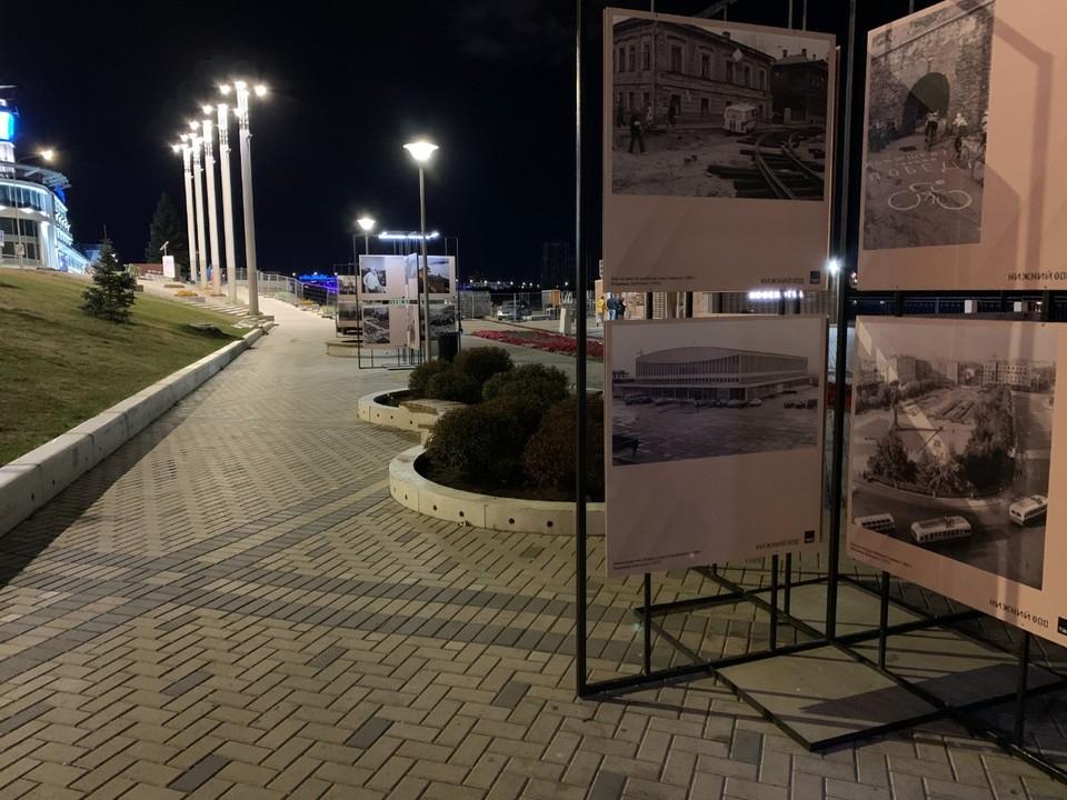 На Нижневолжской набережной открылась выставка ретроспективных фотографий Фото: пресс-служба правительства Нижегородской области