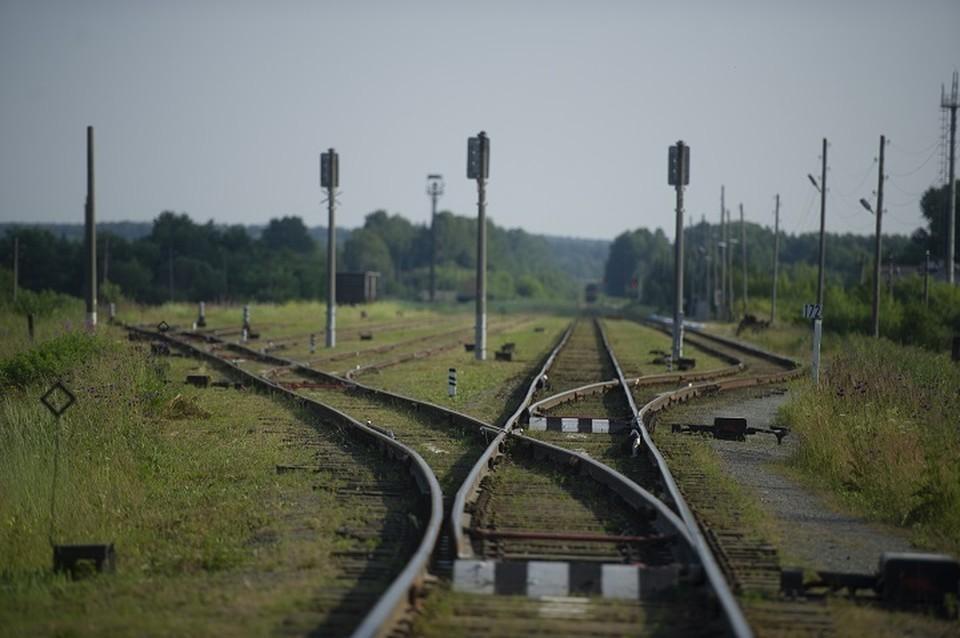 Сейчас собирают узкоколейные рельсы, которые демонтировали с других железных дорог