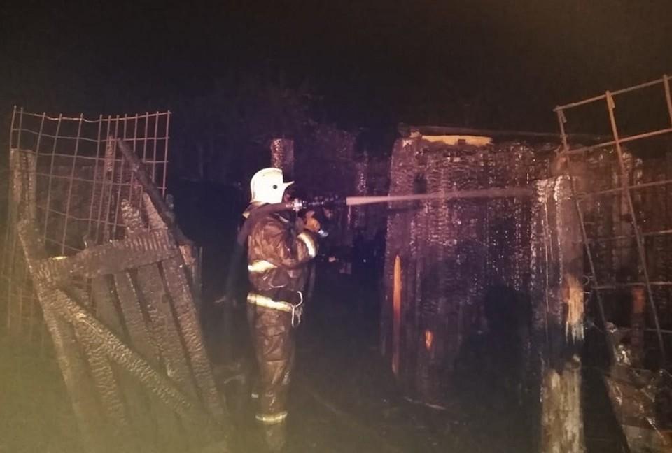Площадь пожара составила 200 квадратных метров. Фото: ГУ МЧС по Свердловской области