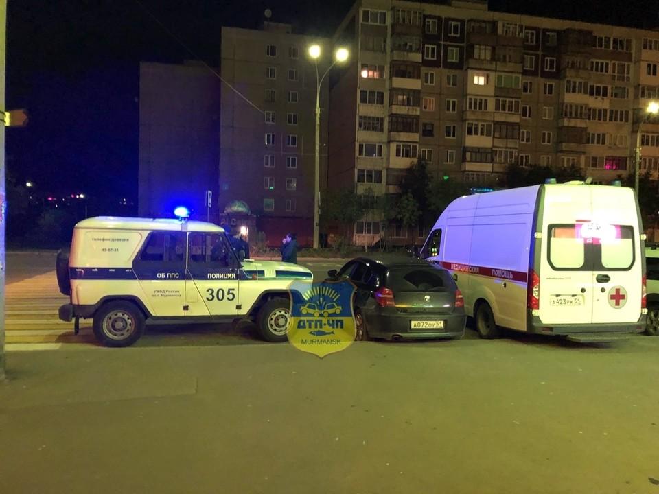 """Нападение произошло у торгового центра """"Флагман"""". Фото: vk.com/murmansk_dtp"""