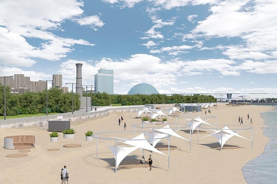 Обновленный пляж в парке 300-летия петербуржцы увидят уже в 2023 году.