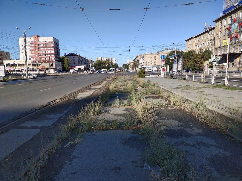 По этим рельсам трамваи не ездят 4 месяца
