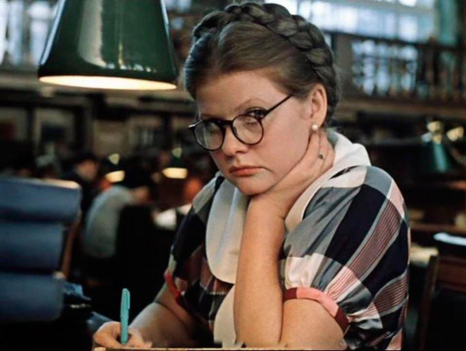 Ирина Муравьева в 1979 году в фильме «Москва слезам не верит».