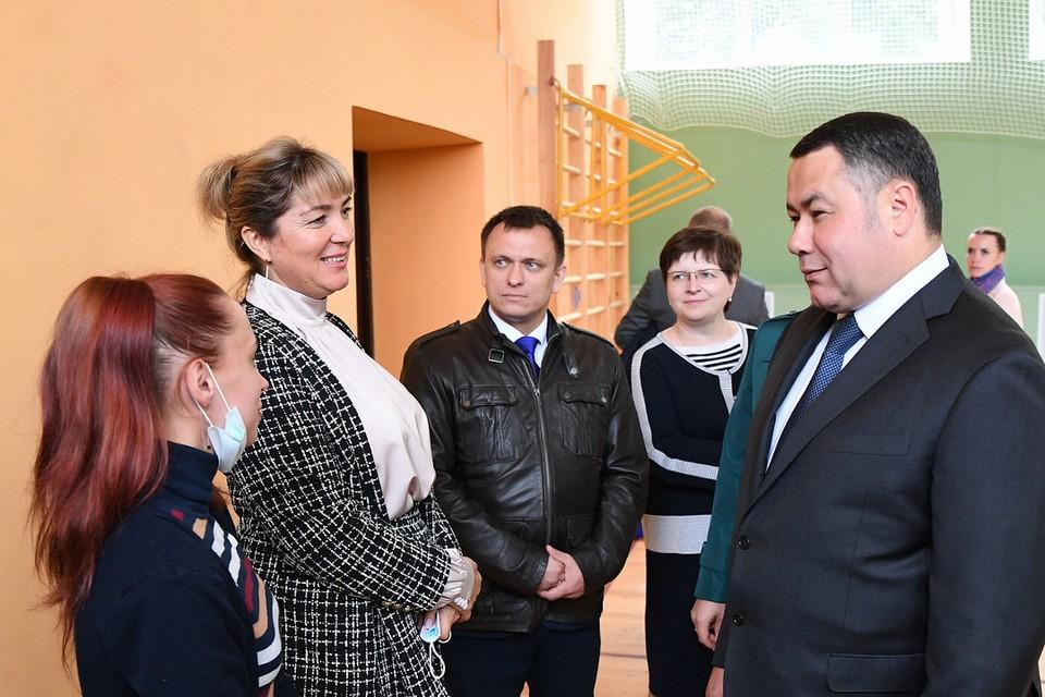Игорь Руденя в Новозавидовской школе №2.
