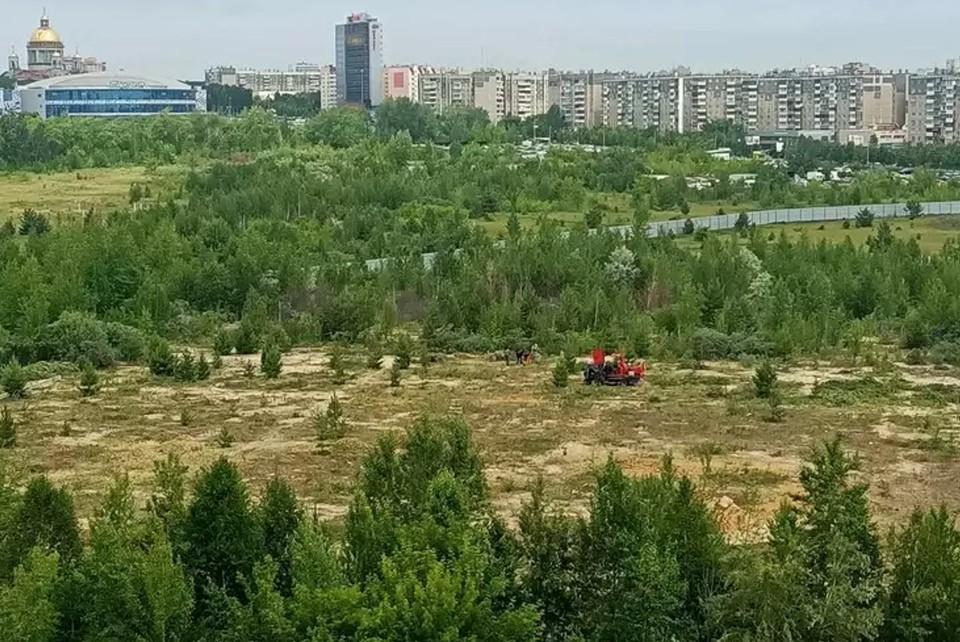 Строительство аквапарка началось в июне. Фото: читательница КП-Челябинск