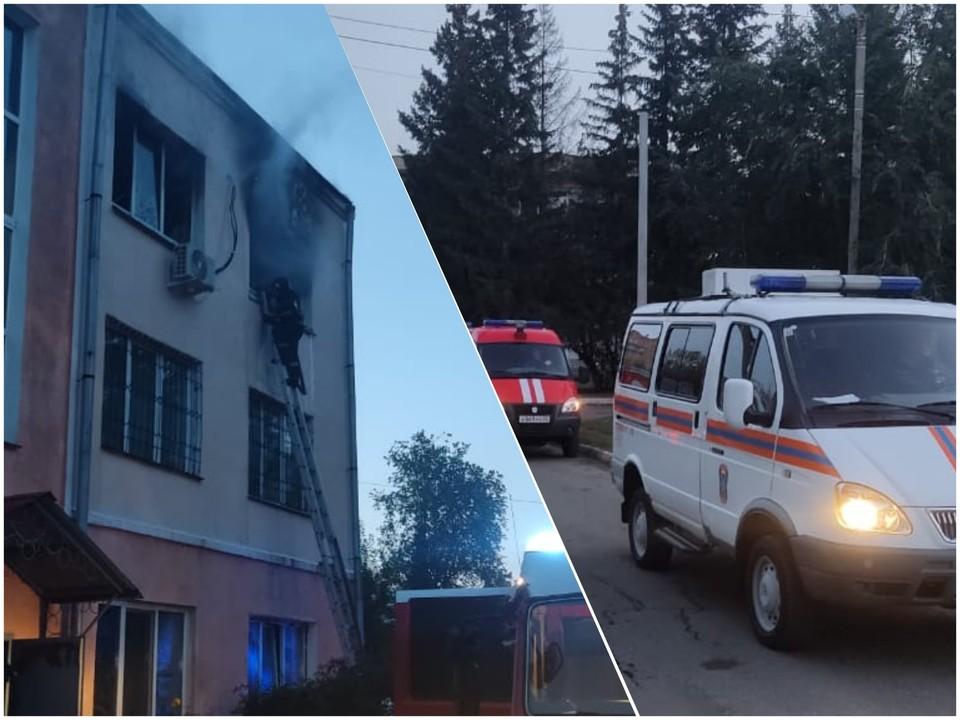Общая площадь пожара составила 250 кв. метров. Фото: ГУ МЧС России по Омской области