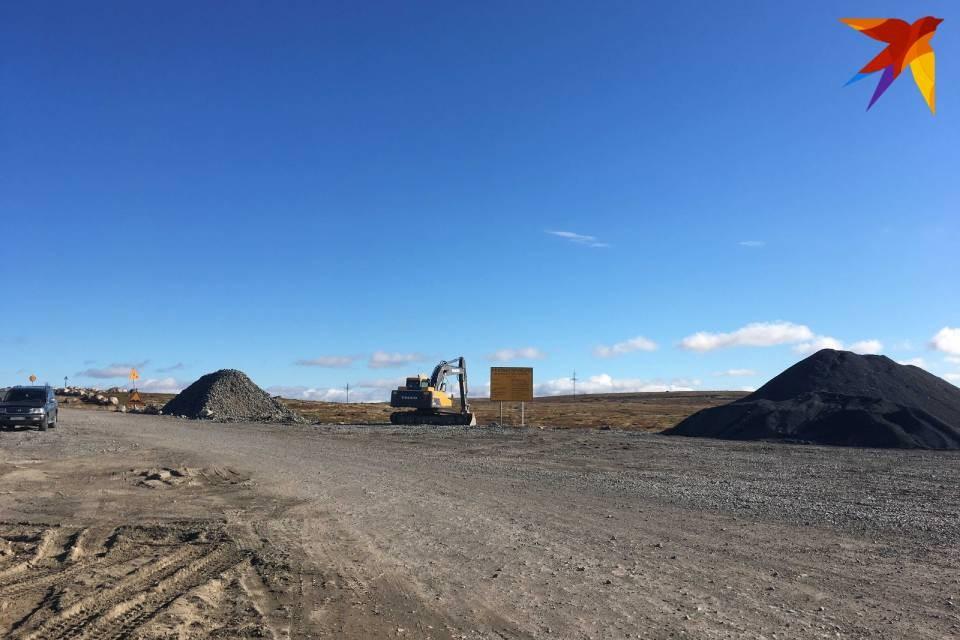 Реконструкция дороги на Териберку началась в 2020 году.
