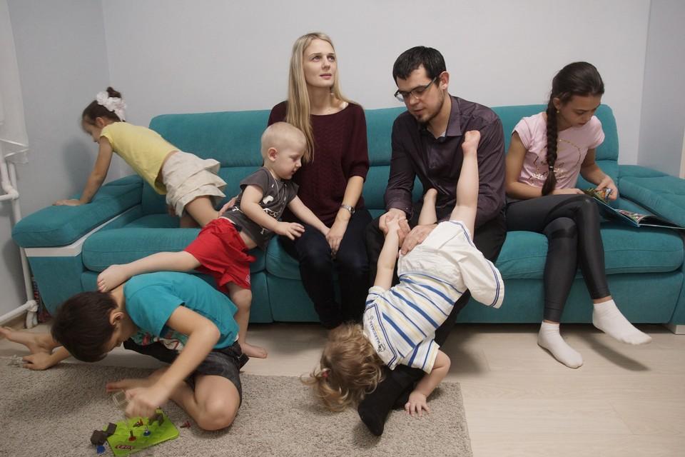 Семьи с пятью детьми смогут улучшить жилищные условия.