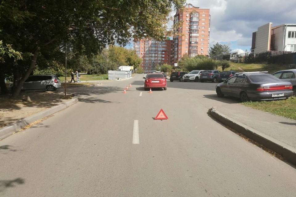 В Новосибирске иномарка сбила 5—летнего мальчика. Фото: ГИБДД по Новосибирску.