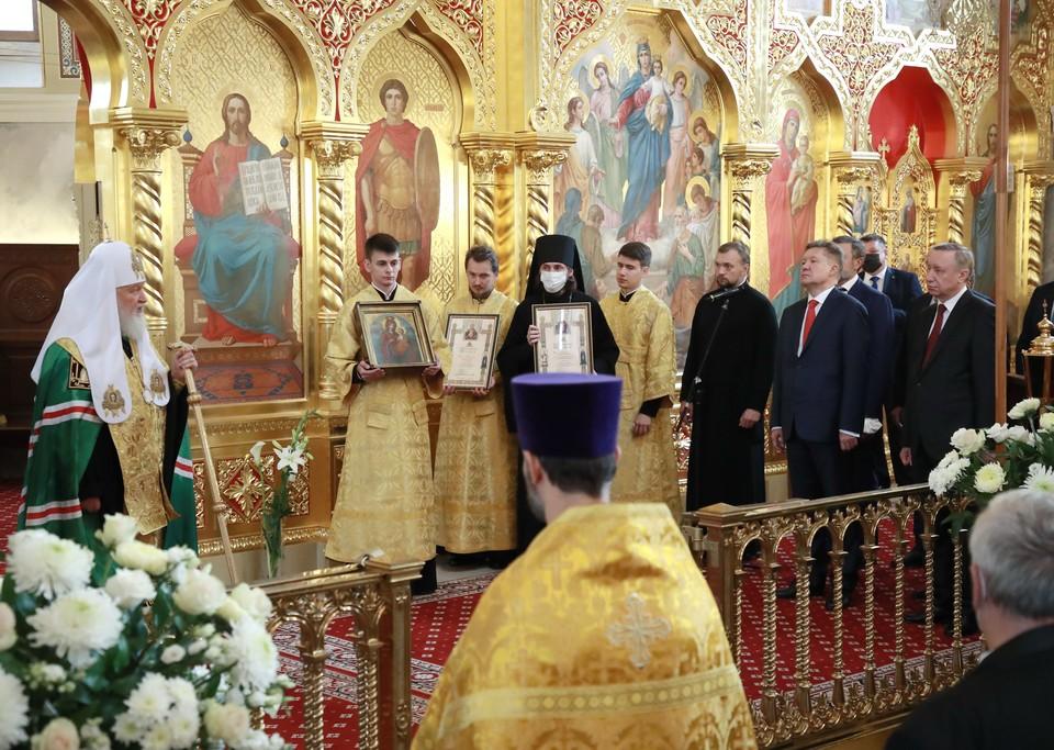 Совершён чин малого освящения Архиерейского подворья храма Святой Троицы / Фото: Смольный