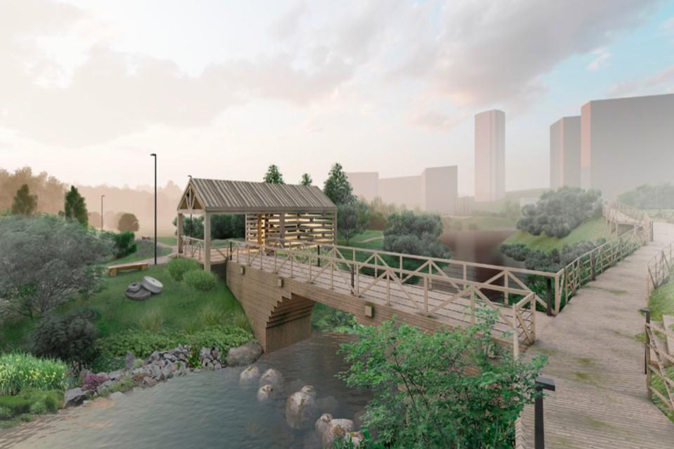 Парк будет построен над рекой Каменка. Фото: пресс-служба города Новосибирск