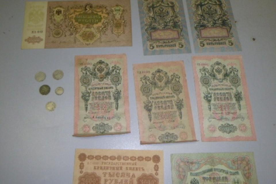 Деньги, которые были в ходу в начале прошлого века, пытались вывезти из России, не задекларировав. Фото: пресс-служба Ростовской таможни