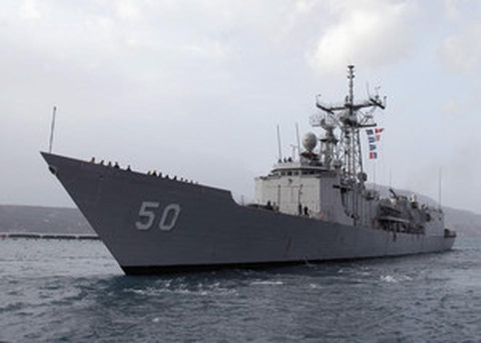 На американском фрегате служат 4 женщины.