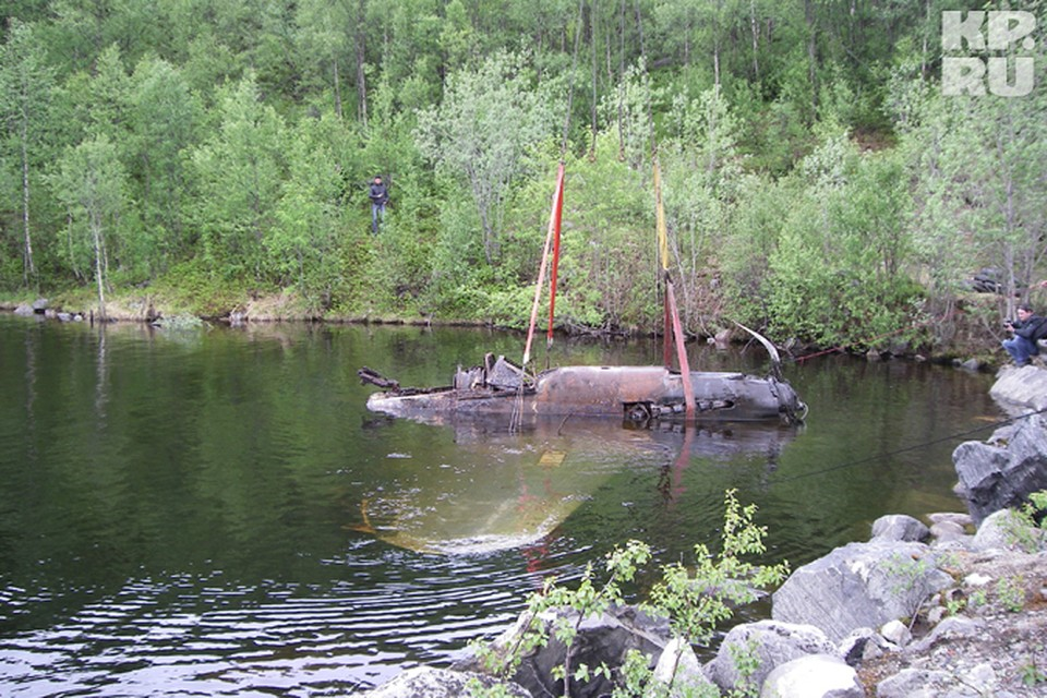Сегодня в Мурманской области достали из-под воды штурмовик Ил-2.
