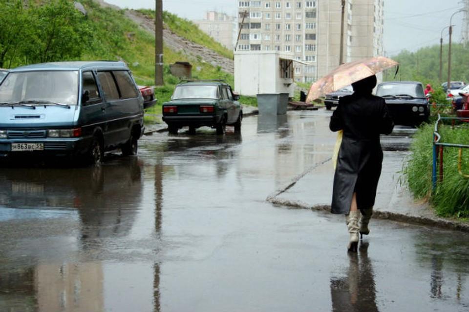Сегодня, по прогнозам синоптиков, Мурманск умоет дождем.