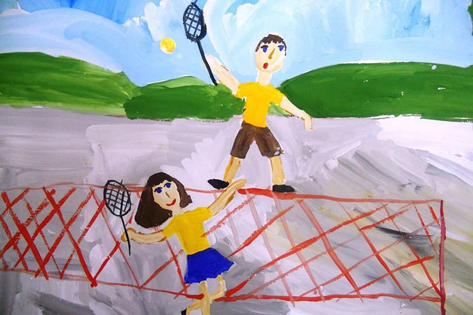 Картина спорт глазами детей