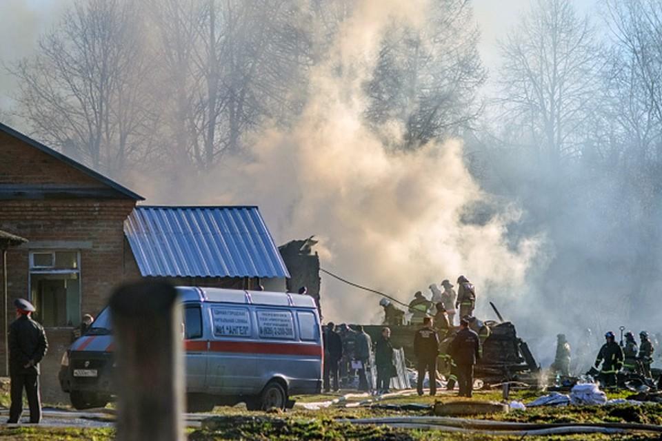 Пожарные до утра боролись с пожаром в психиатрической лечебнице